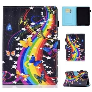 Voor Kindle Youth Edition 2019 Horizontal TPU Painted Flat Feather Case Anti-skid strip met Sleep Function & Pen Cover & Card Slot & Holder(Music Disc)