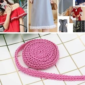 WG000108 Polyester Zijden Duizendpoot Vorm Lace Belt DIY Kleding Accessoires  Lengte: 50m  Breedte: 0 8 cm (Licht Rose Red)