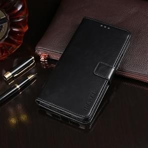 Voor Wiko Y50 idewei Crazy Horse Texture Horizontale Flip Lederen Case met Holder & Card Slots & Wallet(Zwart)