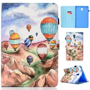 Voor Galaxy Tab A 10.5 T590 Painted Horizontal Flat Leather Case with Sleep Function & Card Slot & Buckle Anti-skid Strip & Bracket & Wallet(Balloon)