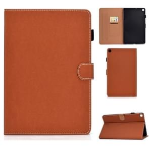 Voor Galaxy Tab S5e T720 Solid Color Tablet PC Universal Magnetic Horizontal Flip Leather Case met kaartslots & houder(bruin)