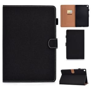 Voor Galaxy Tab S5e T720 Solid Color Tablet PC Universal Magnetic Horizontal Flip Leather Case met kaartslots & houder(zwart)