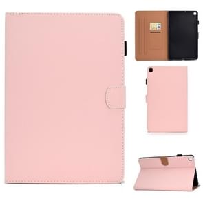 Voor Galaxy Tab S5e T720 Solid Color Tablet PC Universal Magnetic Horizontal Flip Leather Case met kaartslots & houder(roze)