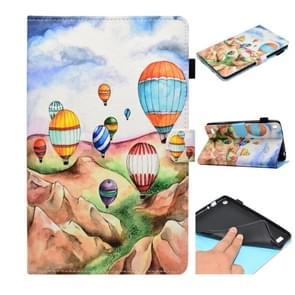 Voor Kindle Fire 7 2015 Painted Horizontale Platte Lederen Case met kaartslot & houder & portemonnee(Ballon)