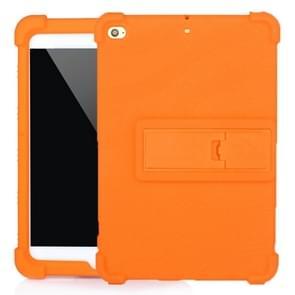 Voor iPad mini 5 / 4 Tablet PC Siliconen beschermhoes met onzichtbare beugel(Oranje)