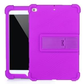 Voor iPad mini 5 / 4 Tablet PC Siliconen beschermhoes met onzichtbare beugel(paars)