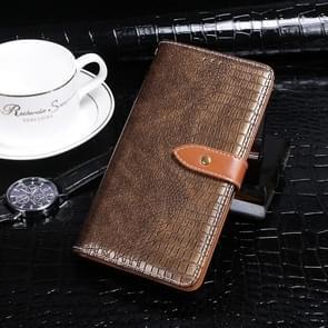 Voor Lenovo K10 Note idewei Crocodile Texture Horizontale Flip Lederen Case met Holder & Card Slots & Wallet(Coffee)