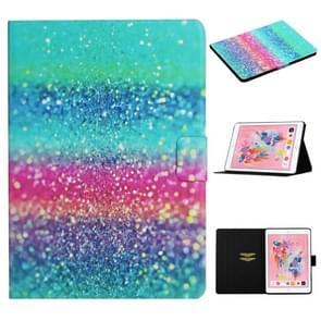 Voor iPad 5 Gekleurd tekenpatroon Horizontaal Flip Lederen hoesje met houder & kaartslots & slaap / wake-up functie(gekleurd zand)