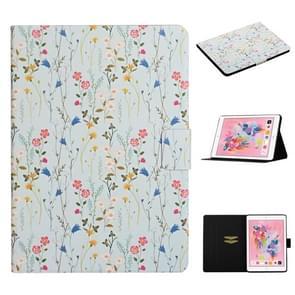 Voor iPad 5 Bloem patroon horizontale flip lederen behuizing met kaartslots & houder (kleine bloemen)