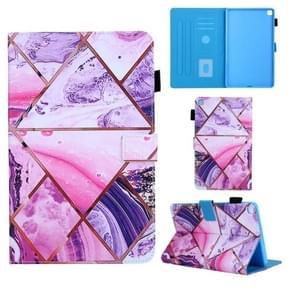 Voor Samsung Galaxy Tab A8.0 (2019) T290 Gekleurd tekenpatroon Horizontaal Flip Lederen kast met Holder & Card Slots & Anti-slip Strip(Red)