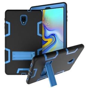 Voor Samsung Galaxy Tab A 10.5 T590 Schokbestendige PC + Siliconen beschermhoes  met houder (Zwart Blauw)