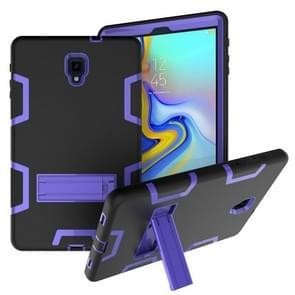 Voor Samsung Galaxy Tab A 10.5 T590 Schokbestendige PC + Siliconen beschermhoes  met houder (Zwart paars)