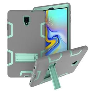 Voor Samsung Galaxy Tab A 10.5 T590 Schokbestendige PC + Siliconen beschermhoes  met houder (Grijs Mint Groen)