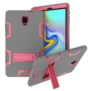 Voor Samsung Galaxy Tab A 10.5 T590 Schokbestendige PC + Siliconen beschermhoes  met houder (Grijze Roos)