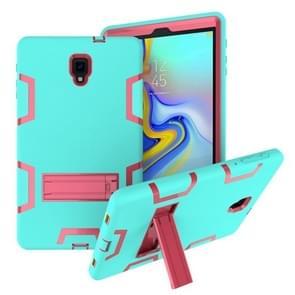 Voor Samsung Galaxy Tab A 10.5 T590 Schokbestendige PC + Siliconen beschermhoes  met houder (Green Rose)