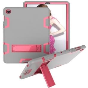 Voor Samsung Galaxy Tab S5e T720 Schokbestendige PC + Siliconen beschermhoes  met houder (Grijze Roos)