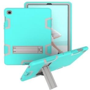 Voor Samsung Galaxy Tab S5e T720 Schokbestendige PC + Siliconen beschermhoes  met houder (Groen Grijs)