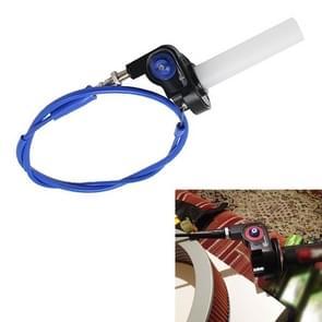 Off-road motorfiets gewijzigd 22mm Handvat Throttle Clamp Hand Grip Big Torque Oil Visuele Throttle Accelerator voor met kabel (Blauw met blauwe gaskabel)