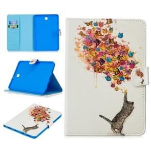 Voor Samsung Galaxy Tab S2 8.0 T715 Stitching Horizontale Flip Lederen case met Holder & Card Slots & Sleep / Wake-up Function(Cat en Butterfly)