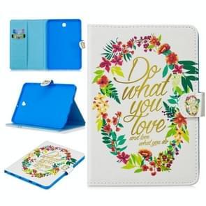 Voor Samsung Galaxy Tab S2 8.0 T715 Stitching Horizontale Flip Lederen case met Holder & Card Slots & Sleep / Wake-up Functie(Do What You Love)