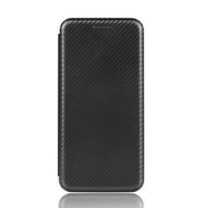 Voor Samsung Galaxy Note10 Plus Carbon Fiber Textuur Magnetische horizontale flip TPU + PC + PU lederen hoes met kaartsleuf(zwart)