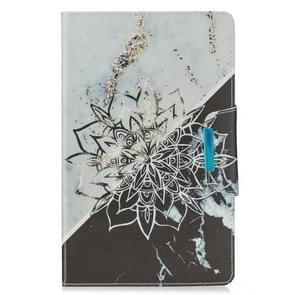 Voor Samsung Galaxy Tab E 9.6 / T560 Painted Pattern Horizontale Flip Lederen case met Holder & Card Slots & Wallet (Sun Flower Marble)