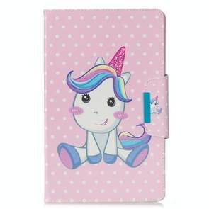 Voor Samsung Galaxy Tab E 9.6 / T560 Painted Pattern Horizontale Flip Lederen case met Holder & Card Slots & Wallet(Unicorn)