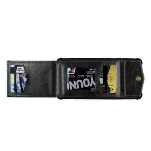 Voor iPhone 11 Pro Flip Card Bag Copper Buckle TPU + PU Leather Back Cover Shockproof case met Card Slots & Photo Frame(Zwart)