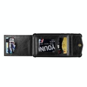 Voor iPhone 12 Pro Max Flip Card Bag Copper Buckle TPU + PU Leather Back Cover Shockproof case met Card Slots & Photo Frame(Zwart)