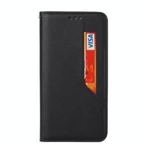 Voor iPhone X / XS Magnetic Horizontal Flip Leather Case met Holder & Card Slots & Wallet(Zwart)
