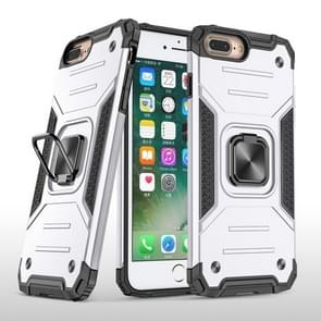 Voor iPhone 8 Plus & 7 Plus Magnetic Armor Schokbestendige TPU + PC case met metalen ringhouder