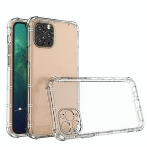 Voor iPhone 11 Pro Max Straight Edge Dual Bone-bits Shockproof TPU Clear Case