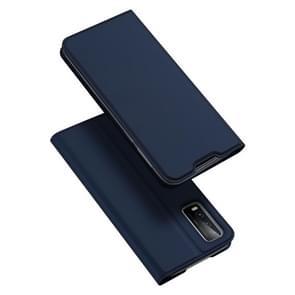 Voor Vivo Y20 / Y20i DUX DUCIS Skin Pro Serie Horizontale Flip PU + TPU lederen kast  met Holder & Card Slots(Blauw)