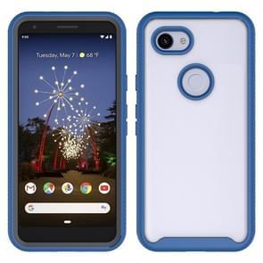 Voor Google Pixel 3a XL Starry Sky Solid Color Series Shockproof PC + TPU Beschermhoes (Navy Blue)