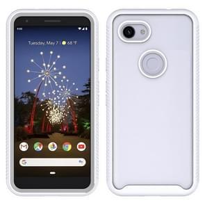 Voor Google Pixel 3a XL Starry Sky Solid Color Series Shockproof PC + TPU Beschermhoes(Wit)