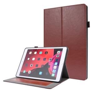 Voor iPad 10.2 / iPad Pro 10.5 Crazy Horse Texture Horizontale Flip Lederen behuizing met 2-vouwbare houder & kaartsleuf (Bruin)