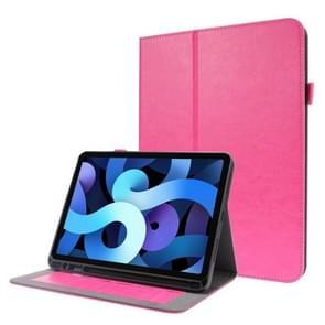 Voor iPad Pro 12 9 inch (2020) Crazy Horse Texture Horizontale Flip Lederen kast met 2-vouwbare Houder & Kaart slot (Rose Red)