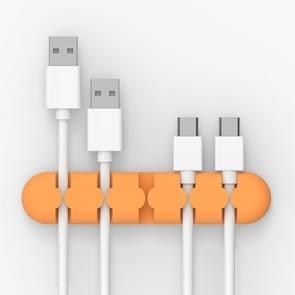 ORICO CBS5 Manager van de kabel van de Desktop van siliconen materiaal Winder Fixer  grootte: 9.6*2*1.2cm(Orange)