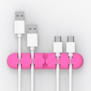 ORICO CBS5 Manager van de kabel van de Desktop van siliconen materiaal Winder Fixer  grootte: 9.6*2*1.2cm(Pink)