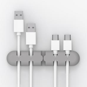 ORICO CBS5 Manager van de kabel van de Desktop van siliconen materiaal Winder Fixer  grootte: 9.6*2*1.2cm(Grey)