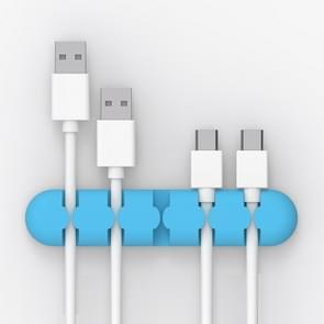 ORICO CBS5 Manager van de kabel van de Desktop van siliconen materiaal Winder Fixer  grootte: 9.6*2*1.2cm(Blue)