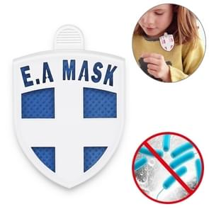 EAMASK Arm Shield Medal Style Air Sterilization Card Anti-influenza Virus Mite-removing Antibacterial Protective Card (Blauw)