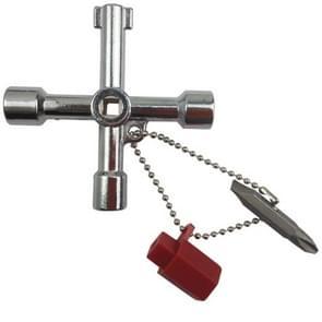 4 in 1 multifunctionele Kruis sleutel moersleutel met cirkel driehoek vierkante vorm
