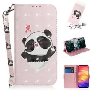 3D gekleurde tekening horizontale Flip lederen draagtas met houder & kaartsleuven & portemonnee voor Huawei P30 Lite (Love Panda)