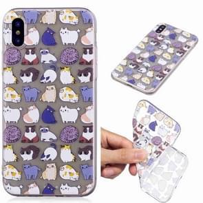 Geschilderde TPU beschermende case voor Huawei P30 (mini kat patroon)
