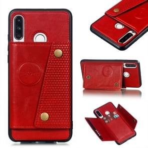 Lederen beschermhoes voor Huawei P30 Lite (rood)