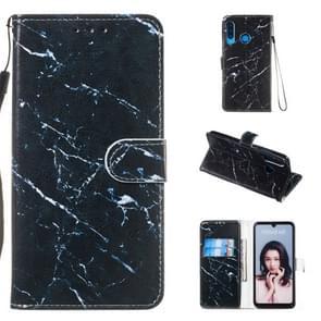 Lederen beschermhoes voor Huawei P30 Lite (zwart marmer)