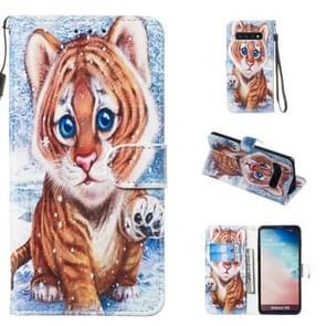 Lederen beschermhoes voor Galaxy S10 (Tiger)