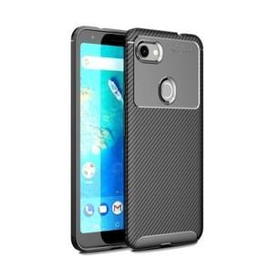 Carbon Fiber textuur schokbestendige TPU geval voor Google pixel 3a XL (zwart)