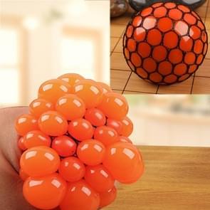 Anti Stress gezicht Reliever Squeeze druif bal extrusie Mood Relief gezonde grappige lastige Vent Toy(Orange)